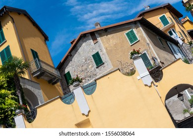 Old houses in the Italian village - Varenna