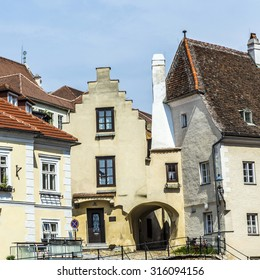 old houses in medieval town of Krems, Austria
