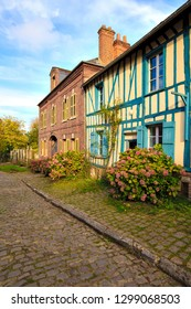 Old houses in the medieval village of gerberoy in picardy, france