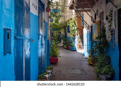 Old houses in the medina of Tanger, Morocco