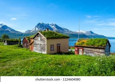 old houses in Norway.Tromso