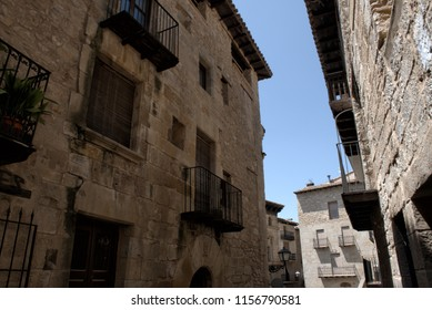 Old houses in a old town. Valderrobles (Spain).