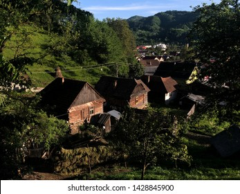 Old houses from Viseu de Sus Romania