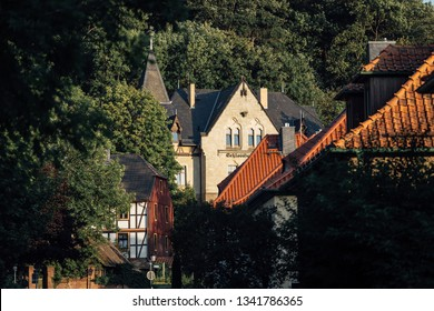 Old houses in Wernigerode in the streets tour