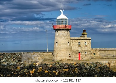 Old Howth Harbour Lighthouse, sits on the peninsula overlooking Dublin Bay.