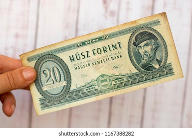 Old Hungarian banknote, 20 forint