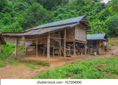 old hut in border village.