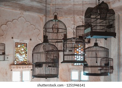 Old  Indian birdcages
