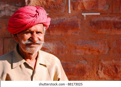 Old Indian man in turban