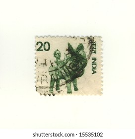 old indian stamp