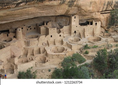 old indian tribal village in the rocks called white house ruins of the Anasazi people