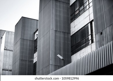 old industrial building exterior under natural day light