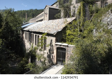 Old industrial building in the middle of the mountains