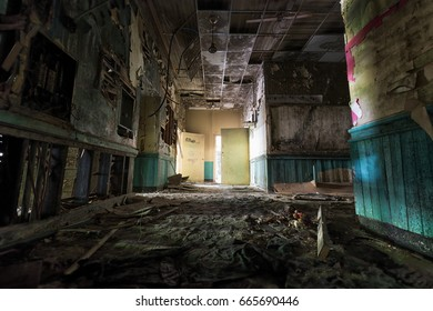 Old industrial buildings and urban decay