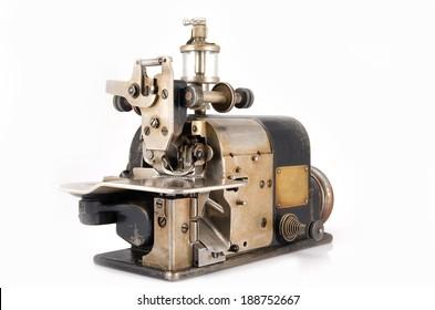 Old Industrial Overlock Sewing Machine