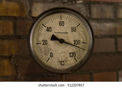 Old Industrial Thermometer