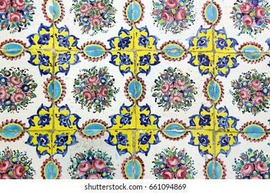 The old Iranian background Ceramic tiles design