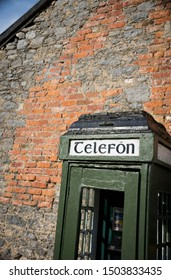 An old irish telephonebooth in the countryside