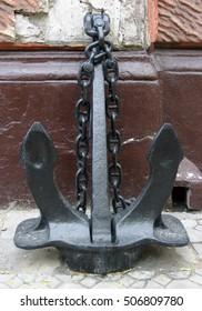 old iron anchor