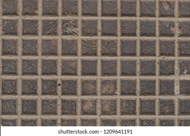 Old iron background. metal texture plate with square shape