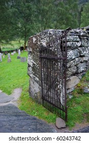 Old iron cemetery gate
