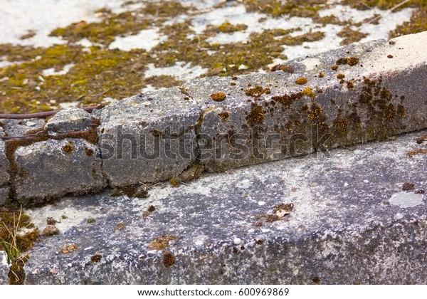 Old iron concrete.