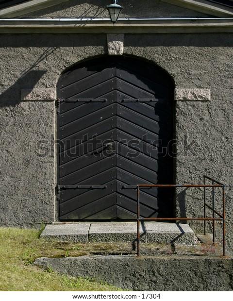 An old iron door.