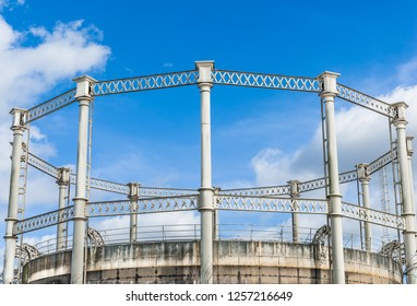 Old Iron Gasometer tower structure
