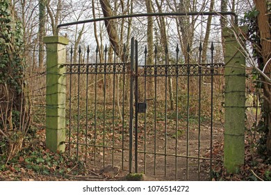 an old iron gate