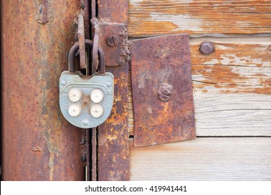 old iron lock