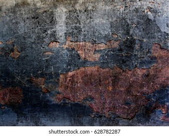 Old iron wall