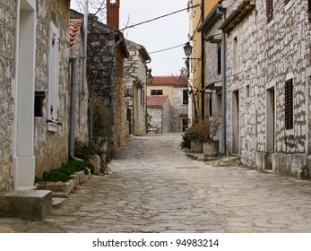 old istrian town vrsar with stone houses