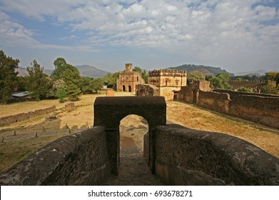 Old Italian castle in Gondar - Ethiopia