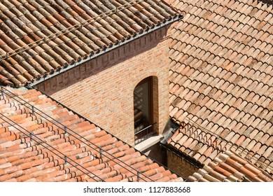 Old italian roofs - texture.
