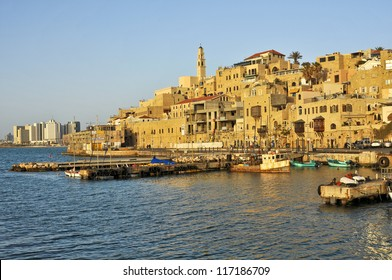 old Jaffa Port and Tel-Aviv