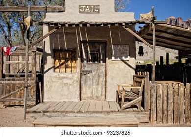 Old jail at the Goldfield Ghost Town near Apache Junction, Arizona