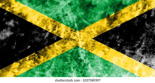 Old Jamaica grunge background flag