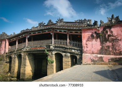 Old japanese bridge in  Hoi An, Vietnam