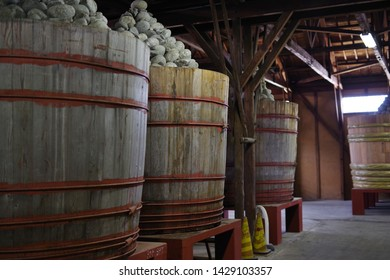 Old Japanese Condiment Storage and Barrels