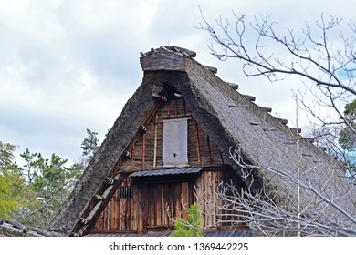 Old Japanese house with thatched roof