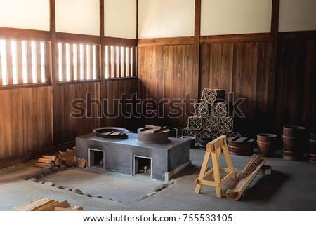 Old Japanese Kitchen Style Preparing Food Stock Photo Edit Now