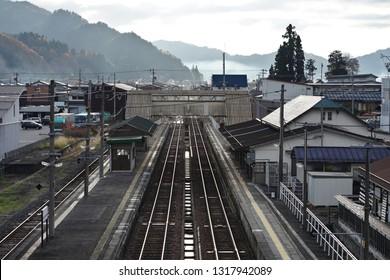 Old Japanese Railway Station of Hida Furukawa City, Gifu prefecture Japan.