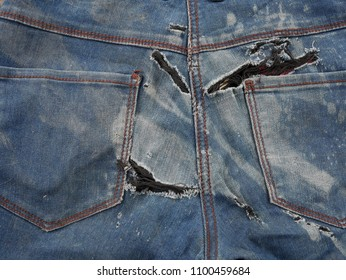 old jeans and torn texture.