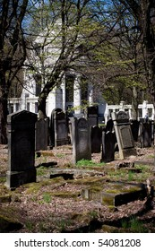 Old Jewish cemetery in Lodz - in color