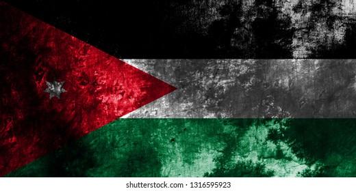 Old Jordan grunge background flag