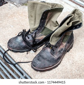 Old Jungle boots from Vietnam era