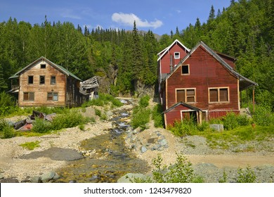 Old Kennecott copper Mine. Former mining town was abandoned in 1938 after a majority of the copper and other ore was depleted. Access to Wrangell-St. Elias National Park, UNESCO World Heritage Site