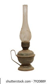 Old kerosene glass lamp