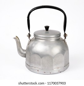 old kettle isolated over white background