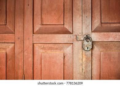 Old Key And Door
